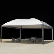 Tonnelle de jardin acier - Surfaces de 4 m² à 12m²