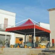 Tonnelle de terrasse - Armature en acier galvanisé