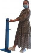 Totem distributeur de gel hydroalcoolique - Fabriqué en France - Hauteur : 105 cm - Contenance : 1 L