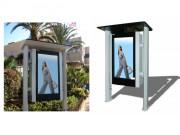 Totem LCD outdoor - Protégé par un filtre frontal