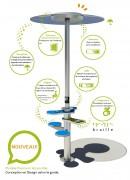 Totem recharge solaire smartphone et tablettes - Recharge simultanée de batterie en énergie solaire