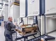 Tour de stockage pour caisses et palettes avec charge - Capacité de charge de conteneur jusqu'à 1000 kg