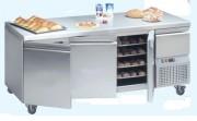 Tour pâtissier réfrigéré dessus inox - 3 portes - Tiroir neutre - 277 à 444 W