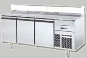 Tour réfrigéré inox - Plan de travail en marbre