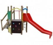 Tour toboggan en bois pour enfant - Hauteur de chute : 0,90 m - Surface amortissante : 32 m²