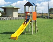 Tourelle enfants - Dimensions (L x P x H): 70 x 330 x 245 cm