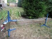Tourne broche électrique à méchoui - Tourne-broche 3 en 1, fonctionne avec 220v/12v chargeur ou batterie ou manuel