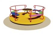 Tourniquet en bois pour enfants - Dimensions (Diamètre x H) cm :  200 x 65