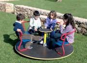Tourniquet pour enfants 5 places diamètre 152 cm - Dimensions (Diamètre x H) cm : 152 x 73