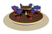 Tourniquet pour enfants 6 places - Dimensions (Diamètre x H) cm : 175 x 65