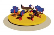 Tourniquet pour enfants 8 places - Dimensions (Diamètre x H) cm : 200 x 65