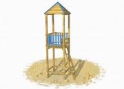 Tours de guet bois pour plages - Dimensions (cm) : 119 x 180 x 480