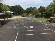 Traçage scolaire pistes et circuits - Création de giratoire