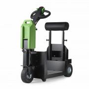 Tracteur électrique à plateforme - Charge max. 1000 kg - Alimenté par batteries rechargeables
