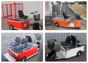 Tracteur electrique industriel 2 moteurs - Traction jusqu'à 8 Tonnes -  Charge jusqu'à 600 Kg