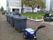 Tracteur électrique pour container poubelle
