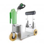Tracteur électrique utilitaire en inox - Alimentation par batterie rechargeables - Charge max. 1000 kg
