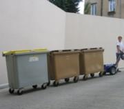 Tracteur pour armoires chariots et roll - Capacité de traction : 4000 kg sur plat