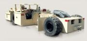 Tracteur pour mine souterraine - Les remorqueurs transportent des tonnes de matériau