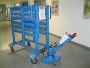 Tracteur pousseur chariot - Silencieux, pour la traction et la poussée de chariots roulants