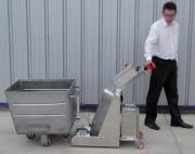 Tracteur pousseur inox - Déplace des colis entre 2 et 10 tonnes