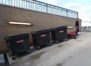 Tracteur pousseur poubelles à déchets - Capacité : 1 800 à 20 000 kg