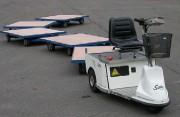 Train chariot électrique - Capacité : de 500 à 2000 kg par chariot