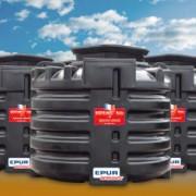 Traitement eaux usées domestiques 1800 L / J - Assainissement compacte jusqu'à 12 EH