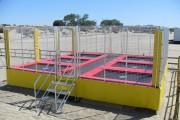 Trampoline extérieur - Cages de trampolines
