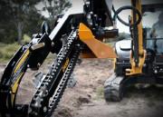 Trancheuse de sol pour mini pelle chantier 1 à 8 tonnes - Trancheuse actionnée par motoréducteur planétaire
