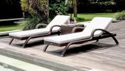 Transat chaises longues - Fabrication : osier synthétique tressé à la main