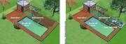 Transformation piscine classique en piscine naturelle - Ecosystème d'épuration Naturelle
