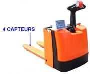 Transpalette électrique peseur 1500 kg - Capacité 1500 kg - 4 capteurs -  Protection IP68