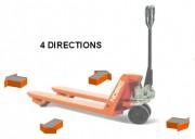 Transpalette manuel 4 directions 1500 kg - Capacité 1500 kg