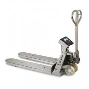 Transpalette peseur en acier inoxydable - Capacités :  600 / 2000 kg - Protection : IP-65