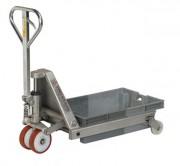 Transpalette pour bac en inox - Capacité de charge (Kg) : 2000