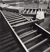Transporteur à bandes industriel - Transport à rouleaux par gravité - galets - largeur piste de 300 à 500 mm