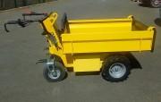 Transporteur électrique à plateau 550 kg - Plateau à ridelles rabattables et amovibles