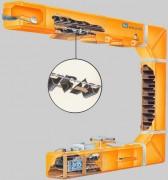 Transporteur élévateur godets - Elevateur universel - manutention continue sans risque de casse