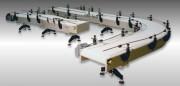 Transporteurs a bandes modulaires - Largeur de bande de 76 mm à 3000 mm.
