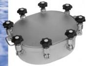 Trappe à pression ovale pour cuve - Jusqu'à -1/10 bars