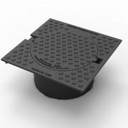 trappe de chaussée carré - Dimensions ( L x l x h ) :360 x 360  x 161 mm