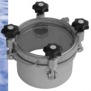 Trappe hublot à pression pour silos - Jusqu'à -1/12 bars