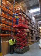 Travaux mise en conformité rayonnage stockage - Travaux et Fourniture d'accessoires de sécurité