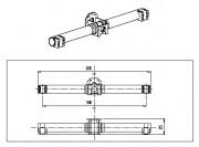 TRAVERSE en E ALU/CARBONE 1400mm - TRV 04 200
