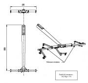 TRAVERSE en T ALU/CARBONE 1400mm TRT 01 117 - TRT 01 117