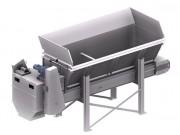 Trémie volumétrique - Longueur :  4600 mm / 6100 mm Largeur : 1200 mm /  1500 mm