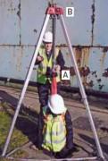 Trépied polyvalent de chantier - Charge maximale levier:250 Kg/Hauteur max trépied :2.15 m