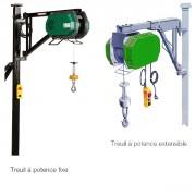 Treuil de levage potence - Charge utile : 200 kg - Vitesse de levage : 18 m/minute