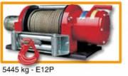 Treuil électrique halage sur véhicules force 5445 kg - E 12 P- Force 5445 kg